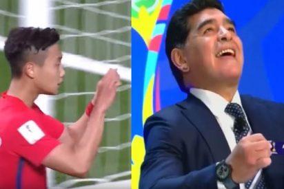 El 'mensajito' que le mandan a Maradona desde Corea del Sur