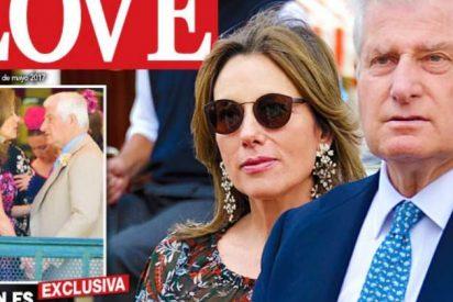 Carlos Fitz-James, duque de Alba, muy cariñoso con Silvia Bruttini