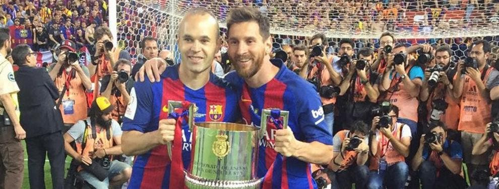"""El jugador del Barça que la lía en la celebración con un """"me voy"""" a Leo Messi"""