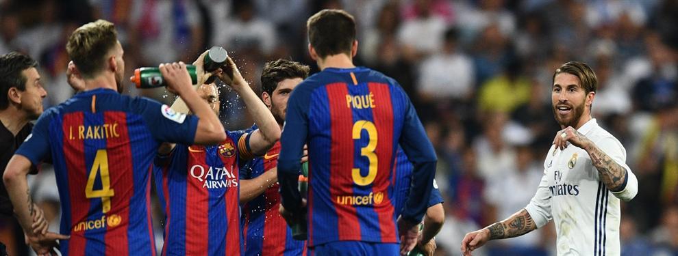 El mensaje de Sergio Ramos a Piqué tras la final de Copa (con un reto tremendo)