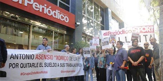 El papel sigue emitiendo señales alarmantes: una huelga provoca que El Periódico no salga a la calle por primera vez