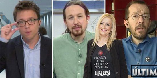 'Podemos is coming': Iglesias y sus hordas se movilizan para guillotinar a la Khalessi en sus tv amigas