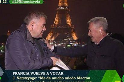 El cachondeo de Ferreras con el análisis de Verstrynge previo al duelo Macron-Le Pen