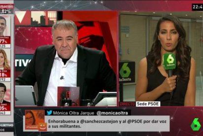 García Ferreras luce la camisa blanca... ¿por el PSOE o por LaLiga del Real Madrid?