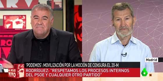 Ferreras arrincona y desarma a Julio 'El Rojo' por la provocación podemita ante las primarias socialistas