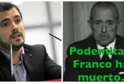 Twitter muele a palos la IU del 'heteropatriarca' por celebrar la muerte de Franco