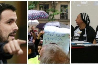 Un blandito Alberto Garzón pide auxilio por Twitter ante un escrache a IU de víctimas del tirano Maduro