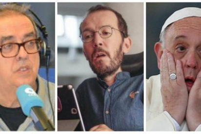 Santiago González le mete un 'zasca' con el desfibrilador de tontos al correveidile del Papa Francisco