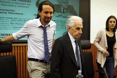 Iglesias le hace la ola al zarrapastroso senador italiano que propone asaltar el poder con el uso de las armas