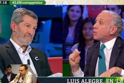 Eduardo Inda se cepilla a un blandito Julio 'El Rojo' en medio minuto espectacular