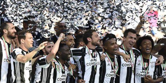 Juventus gana su sexta liga italiana consecutiva y ya sueña con el triplete