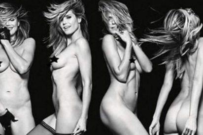 Heidi Klum se desnuda, por primera vez, a los 43 años
