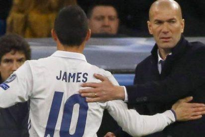 La última decisión de Zidane con James Rodríguez amenaza con 'liar la de Dios' en Cardiff