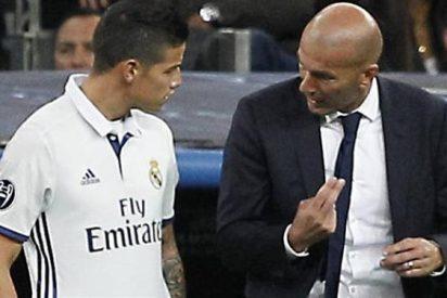La última jugada de Zidane para cargarse a James Rodríguez (y a otro jugador más) en el Real Madrid