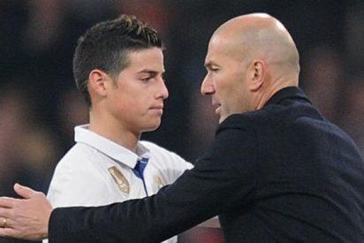 Lo que soltó James Rodríguez a Zidane cuando lo cambió en su último partido en el Bernabéu