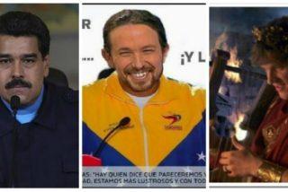 El amigo de 'Pablenin' es la peor caricatura del desquiciado Nerón contemplando como arde Venezuela mientras acaricia su Constitución