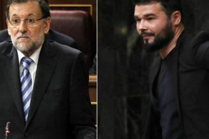 Rajoy deja tambaleando al independentista Rufián por su mala educación en el Congreso