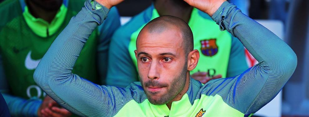 Mascherano hace las maletas: El Barça 'ata' al sustituto del 'jefecito'