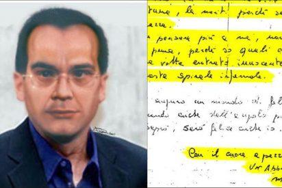 La bella carta de amor que el capo de la Mafia escribió antes de fugarse