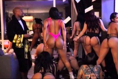 El escandaloso vídeo de las strippers de Floyd Mayweather moviendo el culo entre billetes