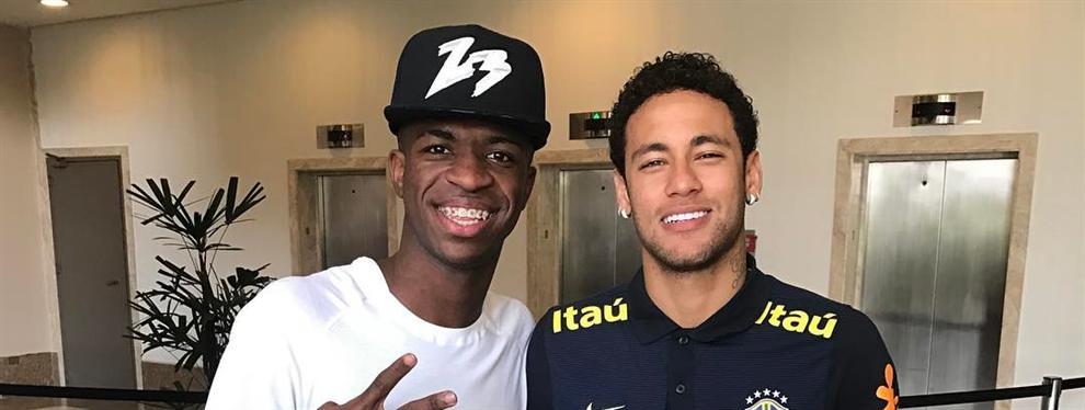 Neymar se carga fichaje Vinicius Jr. por el Real Madrid con un bombazo bestial