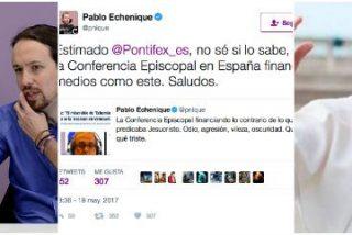 """Echenique rabia con el comentario de Santiago González y pide amparo al Papa: """"La Conferencia Episcopal financia medios como la COPE"""""""