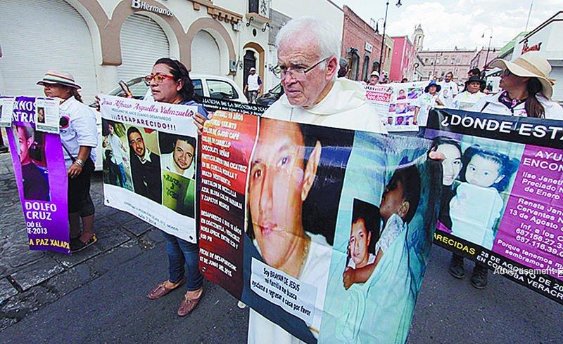 El obispo de Saltillo se manifiesta a favor de los desparecidos en México