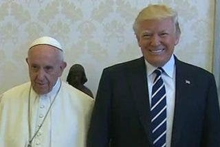 """Trump y Francisco se desean """"buena suerte"""" tras su primer encuentro en el Vaticano"""