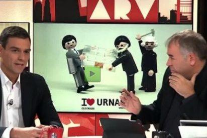 Pillan a García Ferreras firmando la paz con Sánchez en un restaurante japonés