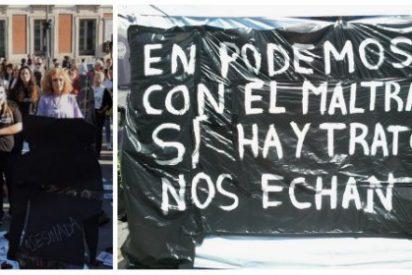 """Simpatizantes de Podemos agreden al grito de """"putas"""" a mujeres maltratadas"""