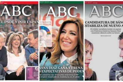 Pataleta del podemita Público por de la defensa de ABC y La Razón de Susana Díaz