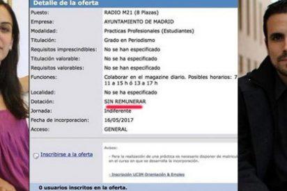 Otra nueva oferta 'esclavista' desde 'Radio Gagá' deja con el culo al aire a los podemitas que participaron en la cruzada contra Jordi Cruz