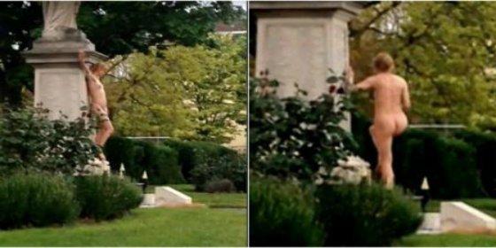 El vídeo de la mujer que baila desnuda en un monumento de guerra británico