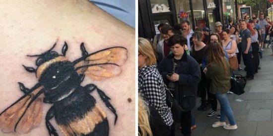 ¿Por qué los británicos hacen cola para tatuarse abejas tras el atentado de Manchester?