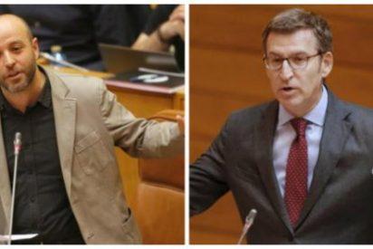 Feijóo ahoga de un plumazo las coces verbales del líder gallego de Podemos