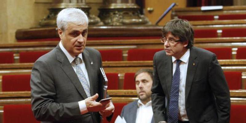 Germà Gordó, consejero de Justicia con Mas, imputado por la corrupción del 3%