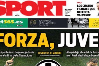 """La prensa de Barcelona ni disimula: """"Força Juve"""""""