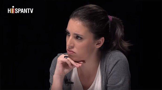 Así recula Irene Montero en HispanTV para complacer a los iraníes que lapidan mujeres