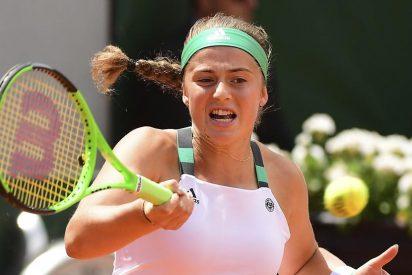 Ostapenko da la sorpresa metiéndose en semifinales de Roland Garros