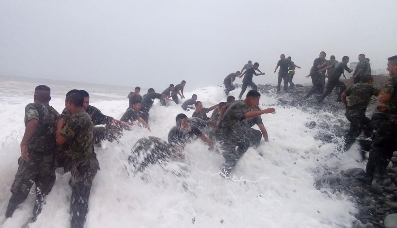 [VÍDEO] Así se ahogan cuatro militares durante un entrenamiento en una zona prohibida