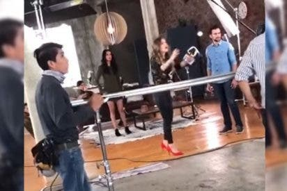 [VÍDEO] La actriz que lanza insultos discriminatorios contra una indefensa modelo