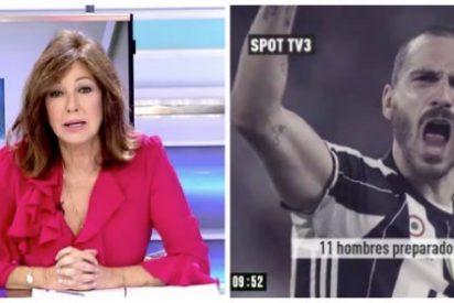 Ana Rosa les canta las verdades a la pandilla de amigos forofos de TV3
