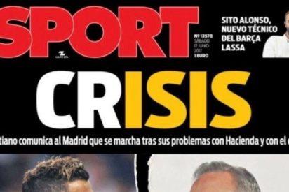 Indignación por la portada de 'Sport' sobre Cristiano Ronaldo