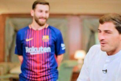 [VÍDEO] La curiosa reacción de Casillas al ver al imitador de Messi