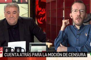"""'Zasca' de Ferreras al tramposo de Echenique: """"¿Me está diciendo que si el PSOE se abstiene es un apoyo a Rajoy?"""""""