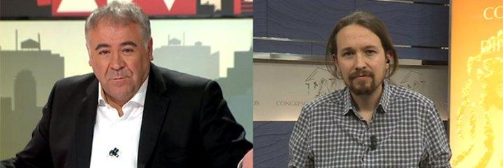 """Ferreras avinagra a Pablo Iglesias con la pregunta más incómoda: """"¿Qué le pareció la imagen de Carmena con el padre de Leopoldo López?"""""""