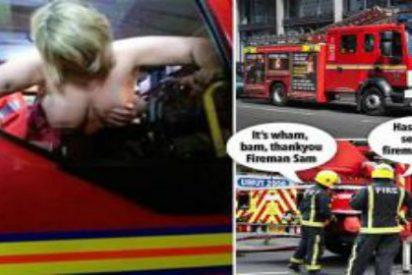 El ardiente encuentro de una pareja en un camión de bomberos que levanta chispas