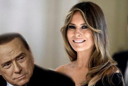 Berlusconi confiesa que lo que más le gusta de Trump es su esposa