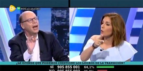 """Bronca de Jaime González a Martu Garrote: """"Que niegues el papel de Juan Carlos I es pegarle una patada en el hocico a la historia de España"""""""