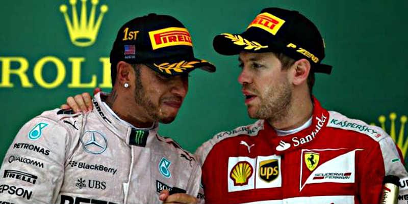 """Hamilton y Vettel se citan """"fuera de la pista""""... ¡para pegarse!"""